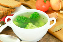 Broccoli and Carrots Soup. Diet Fitness Nutrition Stock Image