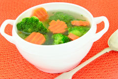 Broccoli and Carrots Soup. Diet Fitness Nutrition Royalty Free Stock Photography