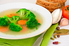 Broccoli and Carrots Soup. Diet Fitness Nutrition Royalty Free Stock Images
