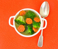 Broccoli and Carrots Soup. Diet Fitness Nutrition Stock Photos