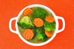 Broccoli and Carrots Soup. Diet Fitness Nutrition Stock Images