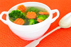 Broccoli and Carrots Soup. Diet Fitness Nutrition Stock Photo