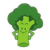 Broccoli Cartoon Character Royalty Free Stock Photos