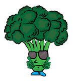 Broccoli cartoon character Stock Photo