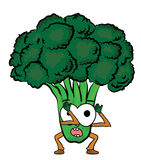 Broccoli cartoon character Stock Image