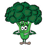 Broccoli cartoon character Stock Photos