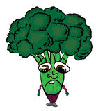 Broccoli cartoon character Stock Photography
