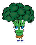 Broccoli cartoon character Royalty Free Stock Photo