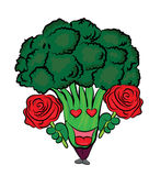 Broccoli cartoon character Stock Images