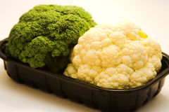 Broccoli and cauliflower Stock Photos