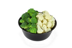 Broccoli and cauliflower Stock Images