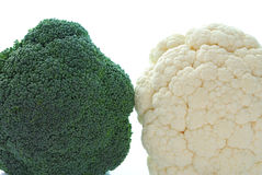 Broccoli and cauliflower Royalty Free Stock Images