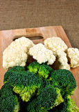Broccoli and Cauliflower Stock Photography