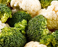 Broccoli and cauliflower Royalty Free Stock Photos