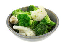 Broccoli Cauliflower In Bowl Royalty Free Stock Image