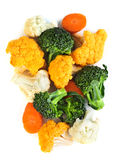 Broccoli cauliflower and carrots Stock Photography
