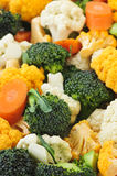 Broccoli cauliflower and carrots Royalty Free Stock Images