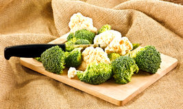 Broccoli and cauliflower Stock Photos
