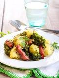 Broccoli and cauliflower fried Royalty Free Stock Image