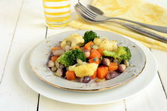 Broccoli, cauliflower, squash and beans Royalty Free Stock Images