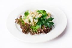 Broccoli cauliflower steamed Stock Photos