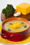 Broccoli and Cheddar Cheese Soup Royalty Free Stock Photo