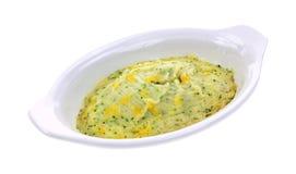 Broccoli Cheese Mashed Potatoes Angle Stock Photography