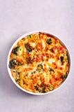 Broccoli cheese pasta bake Stock Photography