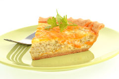 Broccoli Cheese Quiche Royalty Free Stock Photos