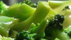 Broccoli with Cheese Sauce, Vegetables stock footage