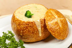 Broccoli and cheese soup Stock Photos