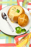 Broccoli and cheese soup Royalty Free Stock Images