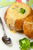 Broccoli and cheese soup Stock Image