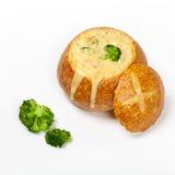 Broccoli and cheese soup Stock Photos