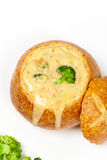 Broccoli and cheese soup Stock Images
