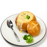 Broccoli and cheese soup Royalty Free Stock Image