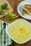 Broccoli Cheese Soup Royalty Free Stock Photography