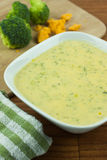 Broccoli Cheese Soup Stock Photo