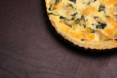 Broccoli and cheese tart Royalty Free Stock Image