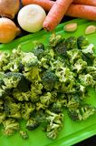 Broccoli, chicken and rice food preparation Stock Photo