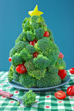 Broccoli Christmas Tree stock images
