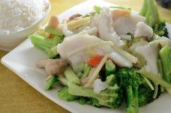 Broccoli Cod fish Stock Images