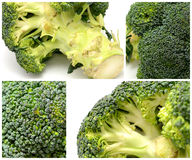 Broccoli colage Stock Images