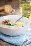 Broccoli and corn chowder Royalty Free Stock Photography