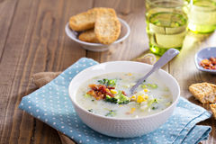 Broccoli and corn chowder Royalty Free Stock Images