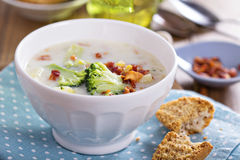 Broccoli and corn chowder Stock Photography