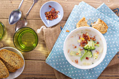Broccoli and corn chowder Royalty Free Stock Photo