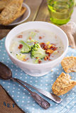 Broccoli and corn chowder Stock Images