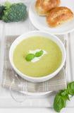 Broccoli cream soup Stock Photography