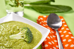 Broccoli cream soup Stock Images